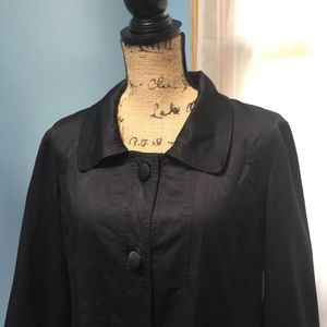 Chico's Black Jacket with Oversized Buttons